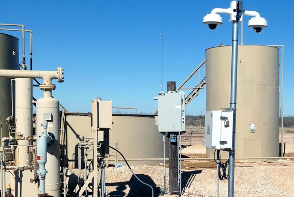 Wireless security cameras in the oil field
